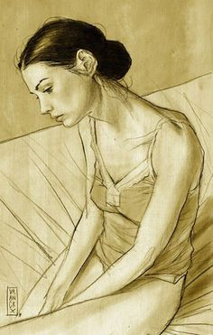 Gilles Vranckx female figure drawing ... I am so in love with this.