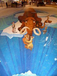 3D ice age art