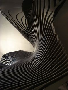 Zaha Hadid: The Cirrus - Stained MDF and Colorcore Formica, Sponsored by The Formica Corporation                                                                                                                                                      More