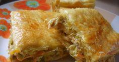Υλικα 1 πακετο φυλλο σφολιατας 2 μπουτια κοτοπουλο βρασμενα 200γρ. τυρι κρεμα φιλαδελφια 1 μεγαλο πρασο ψιλοκομμενο 1 πιπερια φλωριν... Cookbook Recipes, Cooking Recipes, Lasagna, Healthy Living, Food And Drink, Ethnic Recipes, Kitchen, Cooking, Cooker Recipes