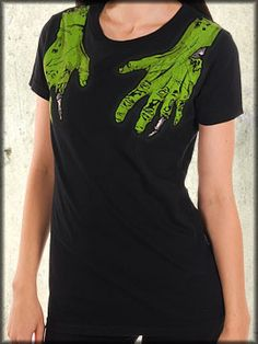 Iron Fist zombie hands second base t-shirt