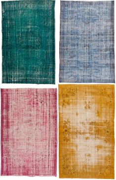 Not generally a big oriental rug person, but love these overdyed vintage rugs - maybe for the library?