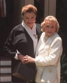 Esther Williams & June Allyson at James Stewarts funeral in 1997.