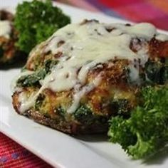 """Spinach Stuffed Portobello Mushrooms 