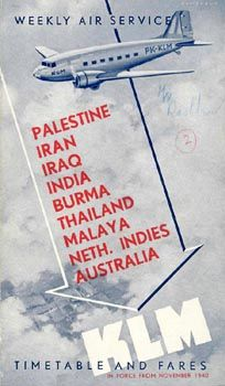 KLM to the Palestine, Iran, Iraq, India, Burma, Thailand, Malaya Neth. Indies and Australia