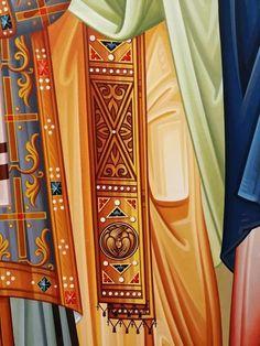 Icon Clothing, Byzantine Icons, Art Icon, Orthodox Icons, Clothes, Color, Women, Fashion, Painting Art