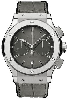 Hublot Titanium Racing Grey, with grey alligator strap. Very classy