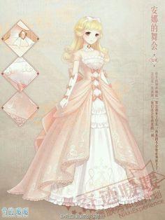 Une princesse prête pour le bal... Cette robe fait rêver, n'est-ce pas ?