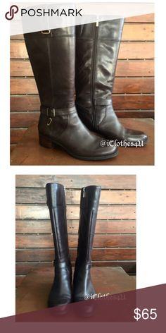 667a3fe56e22 Bandolino Chocolate Cazadora Leather Riding Boots Bandolino Deep Chocolate  Brown Cazadora Leather Riding Boots. These