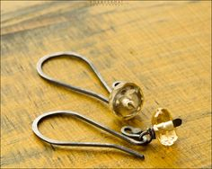 Sterling Silver Faceted Citrine Earrings - Jewelry by Jason Stroud.