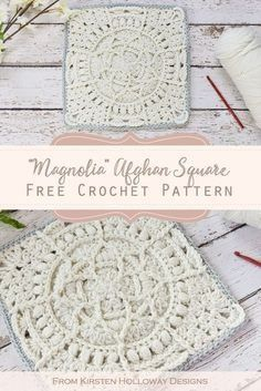 Free Lace Granny Square Pattern This afghan block is full of lace and flower textures! Crochet a beautiful heirloom blanket from this free motif. Crochet Blocks, Granny Square Crochet Pattern, Afghan Crochet Patterns, Crochet Granny, Crochet Motif, Crochet Stitches, Free Crochet Square, Flower Granny Square, Crochet Squares Afghan