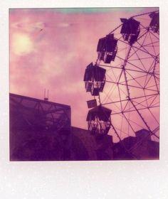Outdoor polaroid picture taken by a Polaroid SX-70 camera, PX70 color film