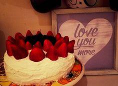 Chocolate cake and strawberries:)