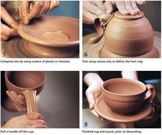 Ceramic Arts Daily – A Renaissance for the Cup and Saucer: A Contemporary Potter Shares the Process for her Wheel Thrown and Slip Decorated Pottery