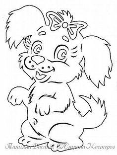 """Несколько лет ждала эта очаровательная собачка своей очереди, обитая в моих """"картиночных"""" запасах... Нарисовала шаблончик. И вот она - моя симпатяга - такая получилась. фото 2"""