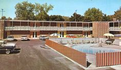 Postcard Of The Motor Inn At Doherty Hotel In Clare Michigan 1959