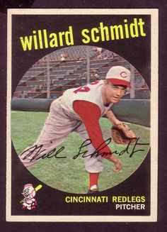 1959 TOPPS WILLARD SCHMIDT CARD NO:171 NEAR MINT CONDITION Cincinnati Reds Baseball, Indianapolis Colts, Pittsburgh Steelers, Dallas Cowboys, Baseball Card Values, Baseball Cards, Nfl San Francisco, Yesterday And Today, Baltimore Orioles