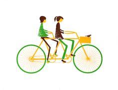 Tandem Bike Print. $14.00, via Etsy.