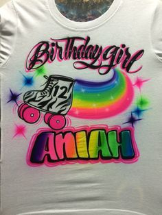 Airbrushed Roller Skate Birthday Shirt By UnlimitedAirbrush 2200