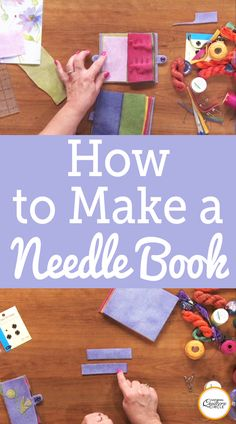 Laura Roberts shows you how to make a simple needle book out of wool. Learn how embroider it, add an index, and finish it with a button to keep it closed. Some of the materials you will need are five pieces of felted wool x snaps, handmade paper, an Sewing Hacks, Sewing Tutorials, Sewing Crafts, Sewing Tips, Basic Sewing, Needle Case, Needle Book, Bag Patterns To Sew, Sewing Patterns Free