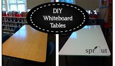 Yesterday I wrote about how we went from desks to tables in Room 10. Today, I want to show you how we went from brown tables to beautiful, clean whiteboard tables. The supplies needed for the project include primer, a paint tray, a paint roller (foam), painters tape and whiteboard paint. Whiteboard paint is sold …