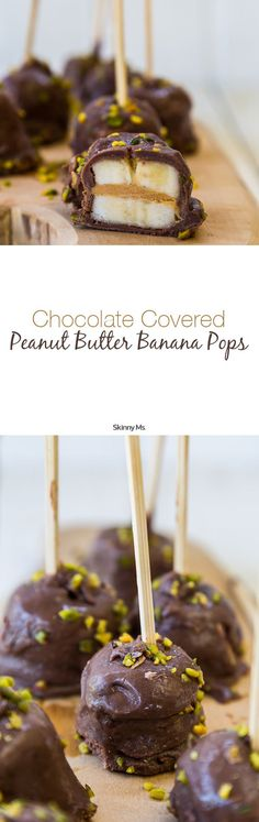 Chocolate Covered Peanut Butter Banana Pops - a must-have no bake recipe for summer!