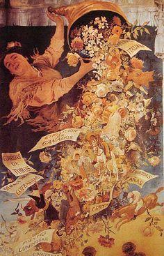 Cartel de Las Fiestas de Primavera de Sevilla 1903