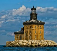 The Toledo Harbor Lighthouse: built in 1904 and located about 7 miles from Maumee Bay State Park in Western Lake, on Lake Erie. www.toledoharborlighthouse.org