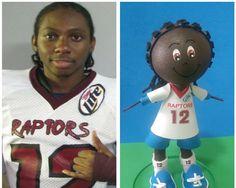 How to make fofucha football player (Raptor) Como hacer un jugador de fu...