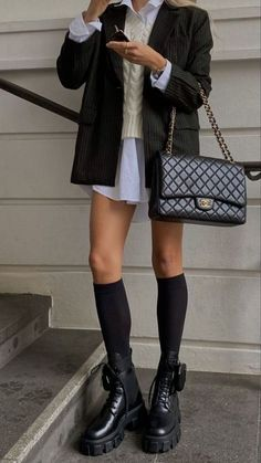 Adrette Outfits, Cute Casual Outfits, Winter Outfits, Best Outfits, Trendy Black Outfits, School Uniform Outfits, Fall Fashion Outfits, Preppy Outfits, Trendy Style