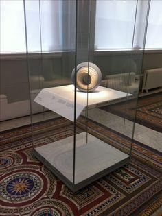 Bent Corian shelf inside display case - National Museum of Scotland