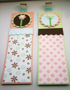 Floral Bookmarks Summer Breeze  Set of Two by CraftyMushroomCards, £3.00