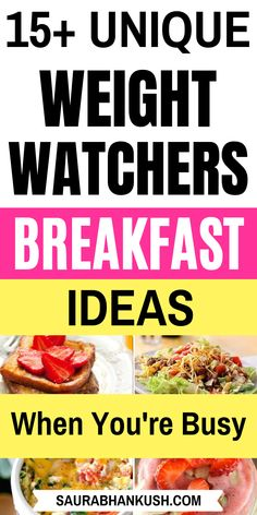 16 Easy Weight Watchers Breakfast Recipes with Points. My weight watchers breakfast on the go includes quick weight watchers breakfast ideas, casserole weight watchers breakfast, crockpot weight watch Weigh Watchers, Weight Watchers Breakfast, Weight Watcher Dinners, Weight Watchers Points, Weight Watchers Desserts, Breakfast Recipes, Breakfast Crockpot, Breakfast Ideas, Breakfast Casserole