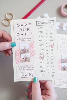 einladungskarten selbst gestalten, save the date, basteln mit washi tapes, ideen für hochzeit