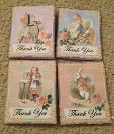 Alice In Wonderland Mini Tags/cards .Birthday/wedding Party Decorations