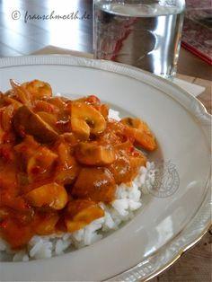 Frau S. verändert die Welt...: ...mit Pilzgulasch auf Reis (zumindest meine Welt, denn das muss ich morgen unbedingt kochen!)