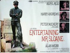 The Douglas Hickox film adaptation of Joe Orton's Entertaining Mr Sloane starring Beryl Reid, Harry Andrews and Peter McEnery -