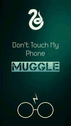 Don't Touch My Phone MUGGLE. Harry Potter Slytherin Lockscreen
