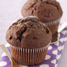 Chocolate Ricotta Muffins You'll love these—they taste like dessert without the all the fat and calories!