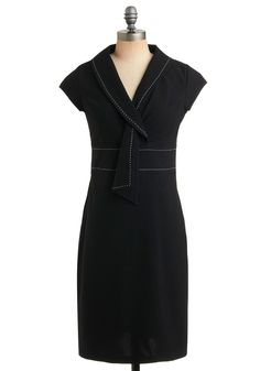 "I would never need a ""work dress"" but I like the neckline and stitching detail on this"