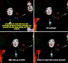 Minerva McGonagall and Severus Snape - Harry Potter