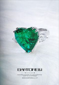 emerald heart ring by Bartorelli Maison