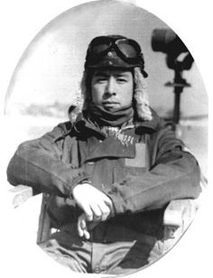 "Kunio Iwashita, Japanese Naval Ace, became a Squadron Commander in 1944. Iwashita and his men flew the newest fighter, the Kawanishi N1K2-J Shiden ""Violet Lightning"" (Allied codename ""George). The N1K-J was considered as one of the finest fighters by both its pilots and opponents."