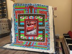 Disney Cars quilt my mom and I designed in our store...Driven 2 Sew Quilt and Craft Shop in Steinbach, Manitoba CANADA