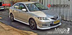 Mazda 3 BK Lenzdesign Bodykit & Spoilers 2003 2004 2005 2006 2007 2008 2009 Mazda 3 2004, Mazda 3 Sedan, Custom Cars, Carbon Fiber, Kit, Ideas, Car Tuning, Pimped Out Cars, Thoughts