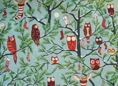 Retro Christmas Fabric By Alexander Henry