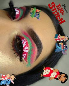 Pinterest @IIIannaIII Makeup Eye Looks, Eye Makeup Art, Crazy Makeup, Cute Makeup, Eyeshadow Makeup, Makeup Goals, Makeup Inspo, Crazy Eyeshadow, Disney Eye Makeup