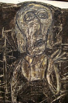 Jean Dubuffet (French 1901~1985), best known for founding the art movement 'Art Brut'