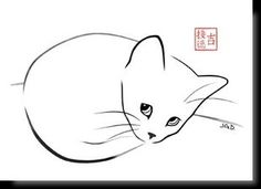 Cartes postales d'art félines #CatDrawing