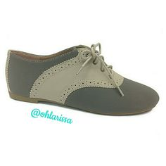 Stone Nubuck Lynda Saddle Oxfords - Size 8 A classic saddle-inspired design defines this oxford shoes. Great with your office attire and lifts up your casual attire. Bamboo Shoes Flats & Loafers